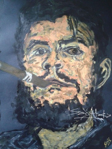 Che Acrylic on Cartridge paper. A3