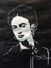 Frida Khalo.Acrylic on Cartridge Paper. A3