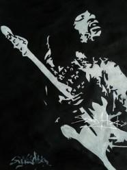 J.M.Hendrix. Acrylic on cartridge Paper. A3