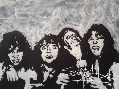 Metallica Early Days Acrylic on Cartridge Paper.A3