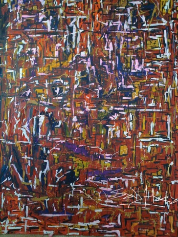 My studio wall, Acrylic on canvas 1220mm*920mm