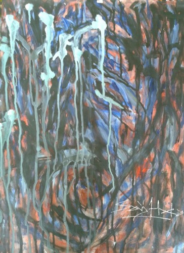Scream Acrylic on Cartridge paper A2